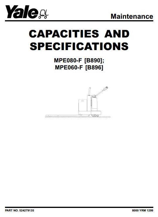 yale pallet stacker mpe060 f b896 mpe080 f b890 workshop yale pallet stacker mpe060 f b896 mpe080 f b890 workshop service manual circuit diagramhigh