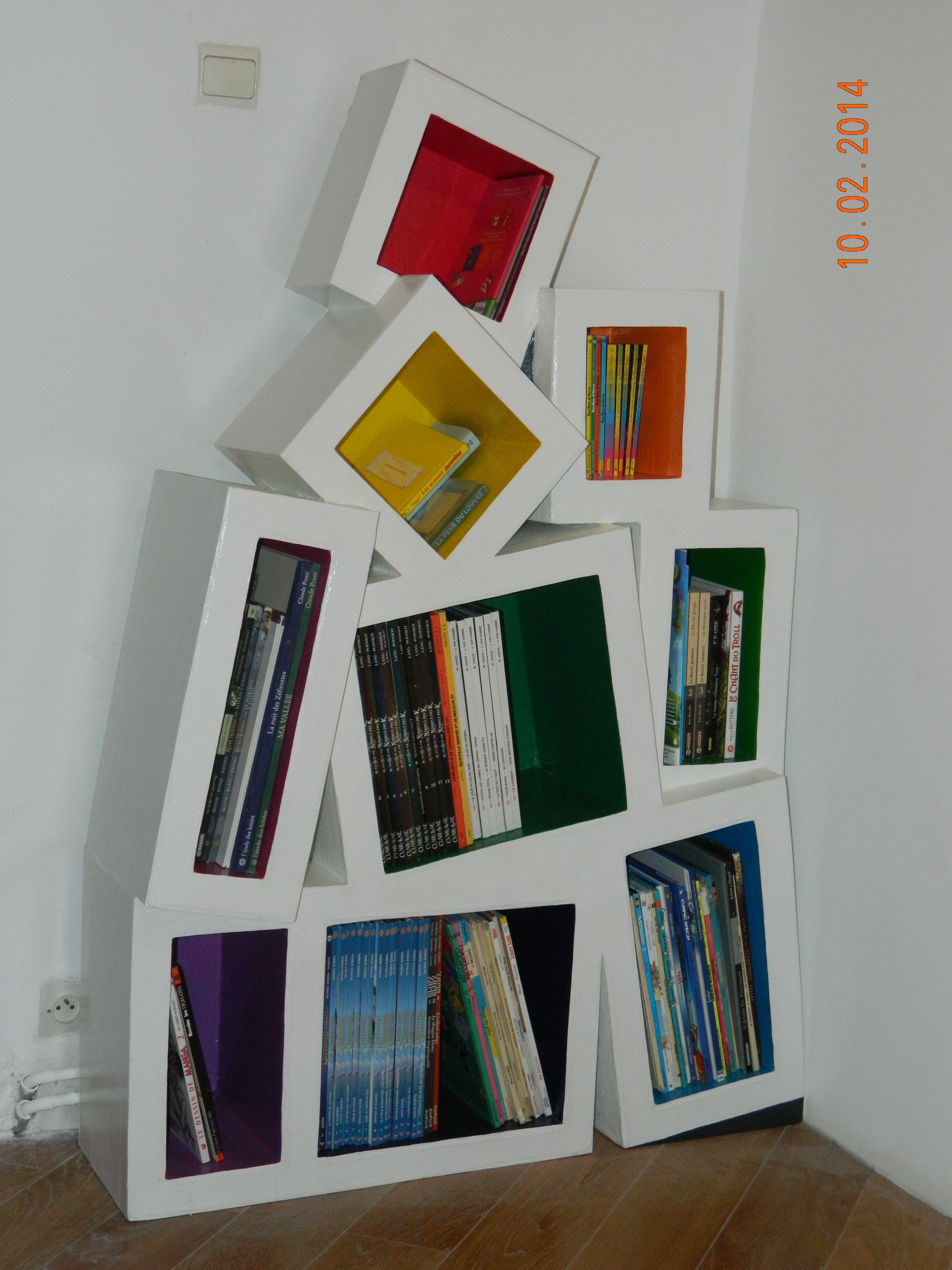 Biblioth Que En Carton Maravillas En Carton Pinterest  # Muebles Diy De Carton