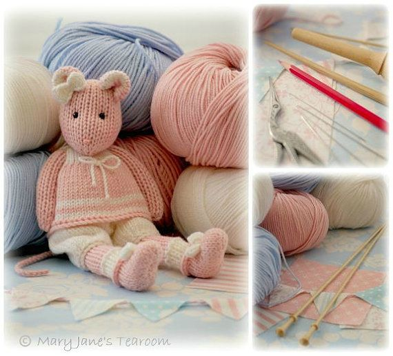 MJT Mice 2 Knitting Pattern Deal/ 'Tearoom by maryjanestearoom