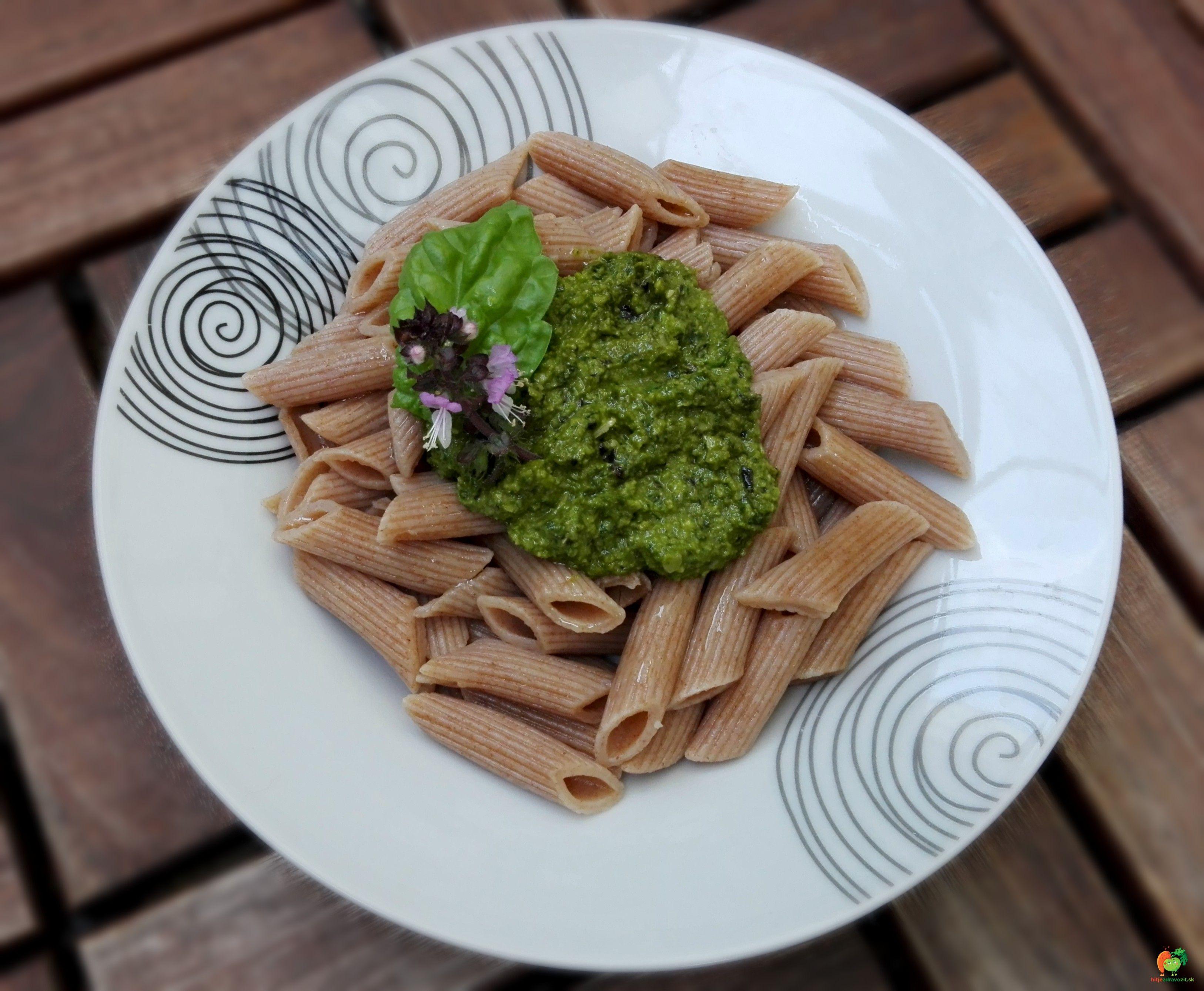 Bazalkove pesto #basil #pesto #penne #italian #food