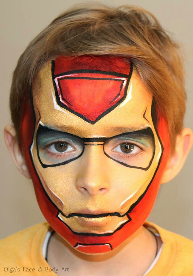 Iron Man Face Painting Ideas Pinterest Face painting