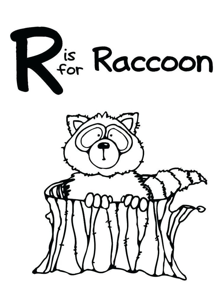 Baby Raccoon Coloring Page Raccoons Are Small Mammals That Live In North America Central America Animal Coloring Pages Abc Coloring Pages Zoo Coloring Pages
