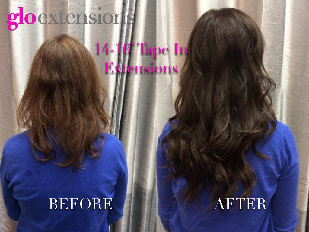 Hair Extensions Before And After By Glo Extensions Denver Tape In