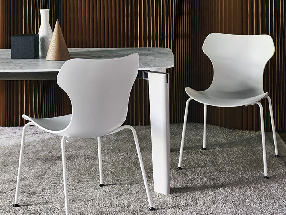 b&b italia papilio shell dining chair - metal legs by naoto, Esszimmer