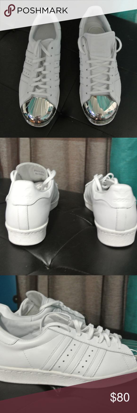 Adidas Superstar 80s Metal Toe Women s Originals Adidas Superstar 80s Metal  Toe Women s Originals White Silver Toe D67592 Size 9 . 0d1750a7f806