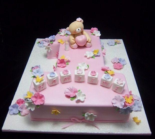 Lecker Und Süß Schöne Torte Zum Ersten Geburtstag Cakes