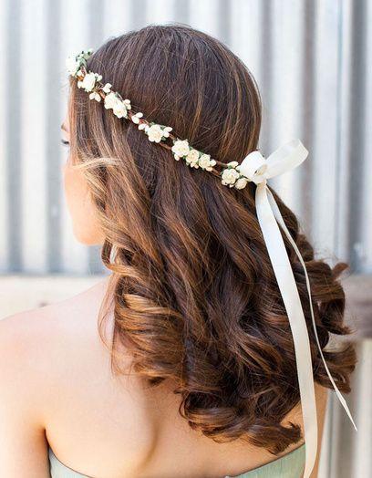 Mariage : 30 coiffures qui changent du chignon de mariée | Kapsel met los haar, Bruidskapsel ...