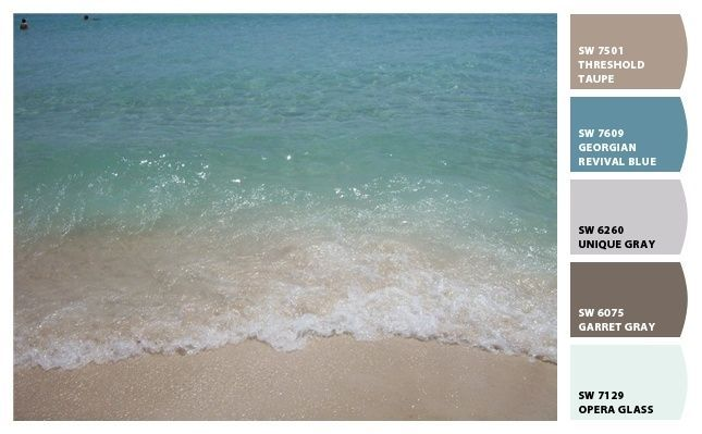 Coastal Decor Beach Decor Color Palette 44 Sand And Surf With