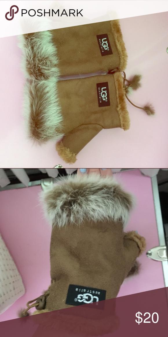 Ugg fur gloves Ugg fur gloves never worn received as gift UGG Accessories Gloves & Mittens