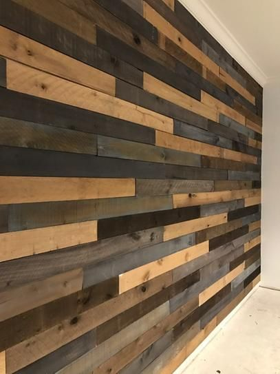 1 2 In X 4 In X 4 Ft Weathered Hardwood Board 8 Piece 27862 At The Home Depot Mobile Wood Walls Living Room Rustic Wood Walls Wood Pallet Wall