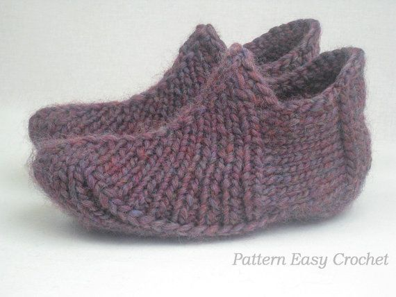 Knitting Pattern Slippers For Home And Office By Lecrochetart
