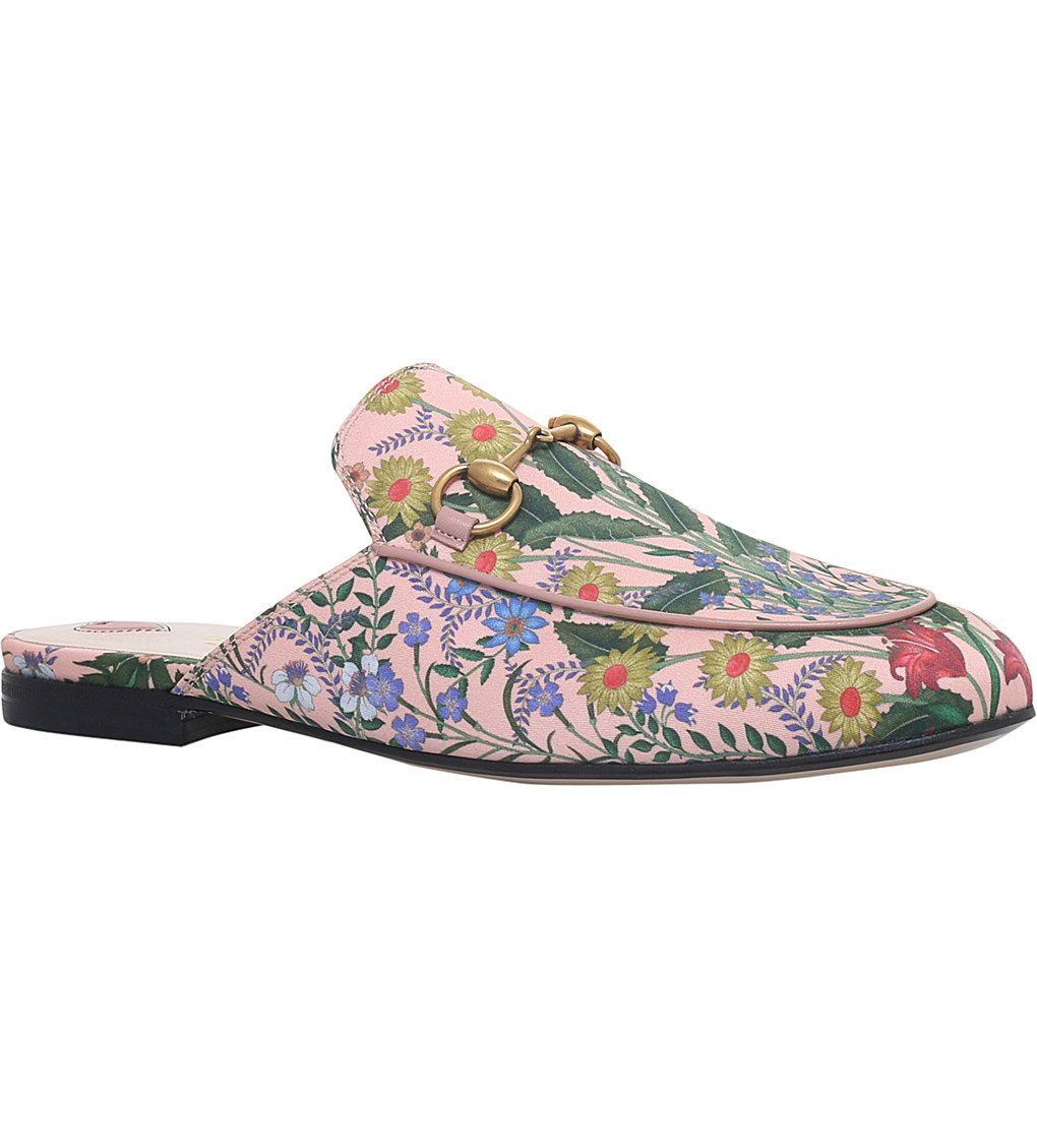 625234c46425 GUCCI - Princetown New Floral leather slippers