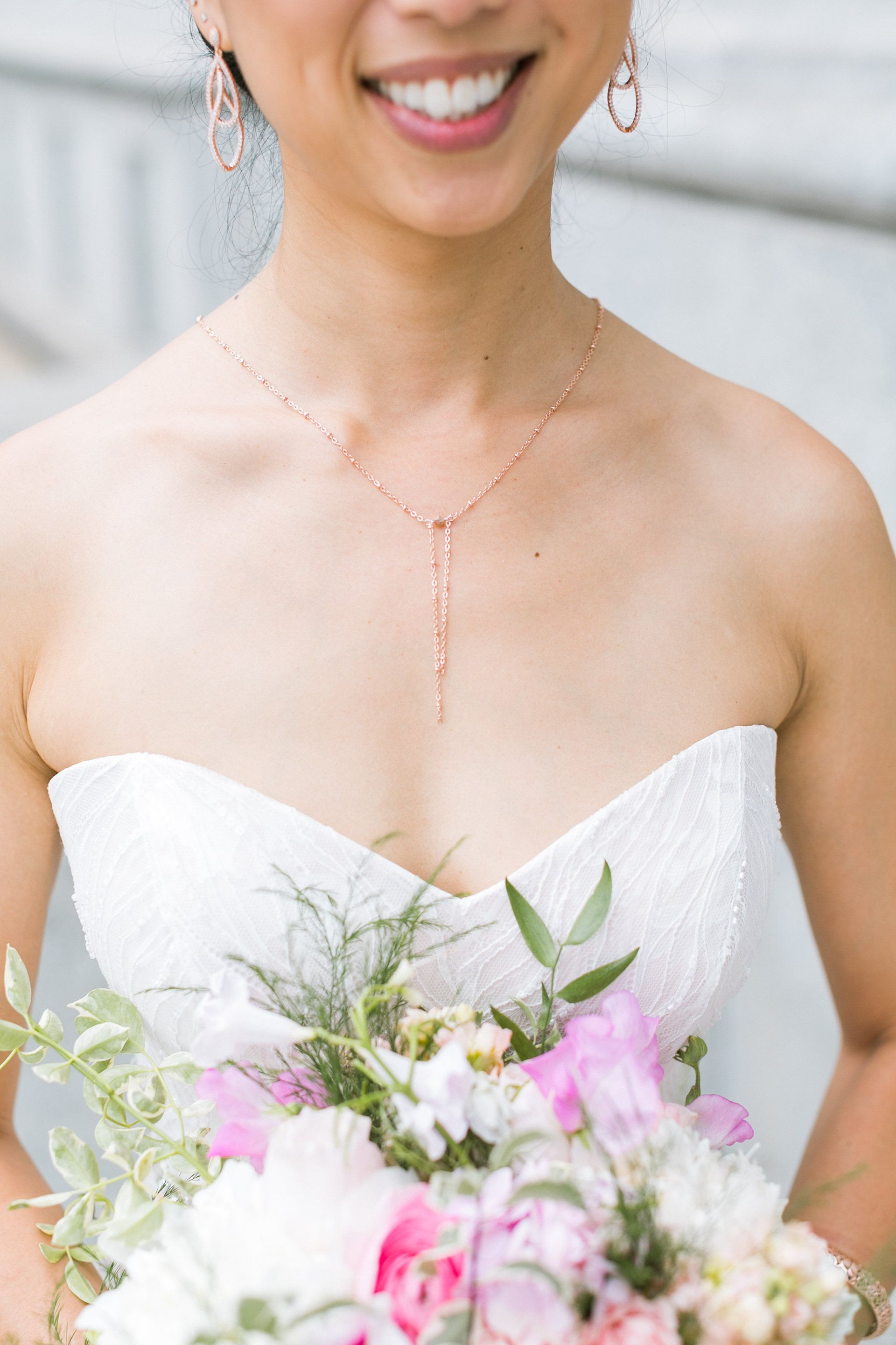 wedding modern the lee rose delicate smarter gold way jewelry necklace photography jewellery earrings ideas wed jasmine and pin to dress