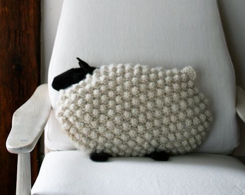 Crochet Bobble Sheep Pillow And Lots Of Free Patterns Free Pattern