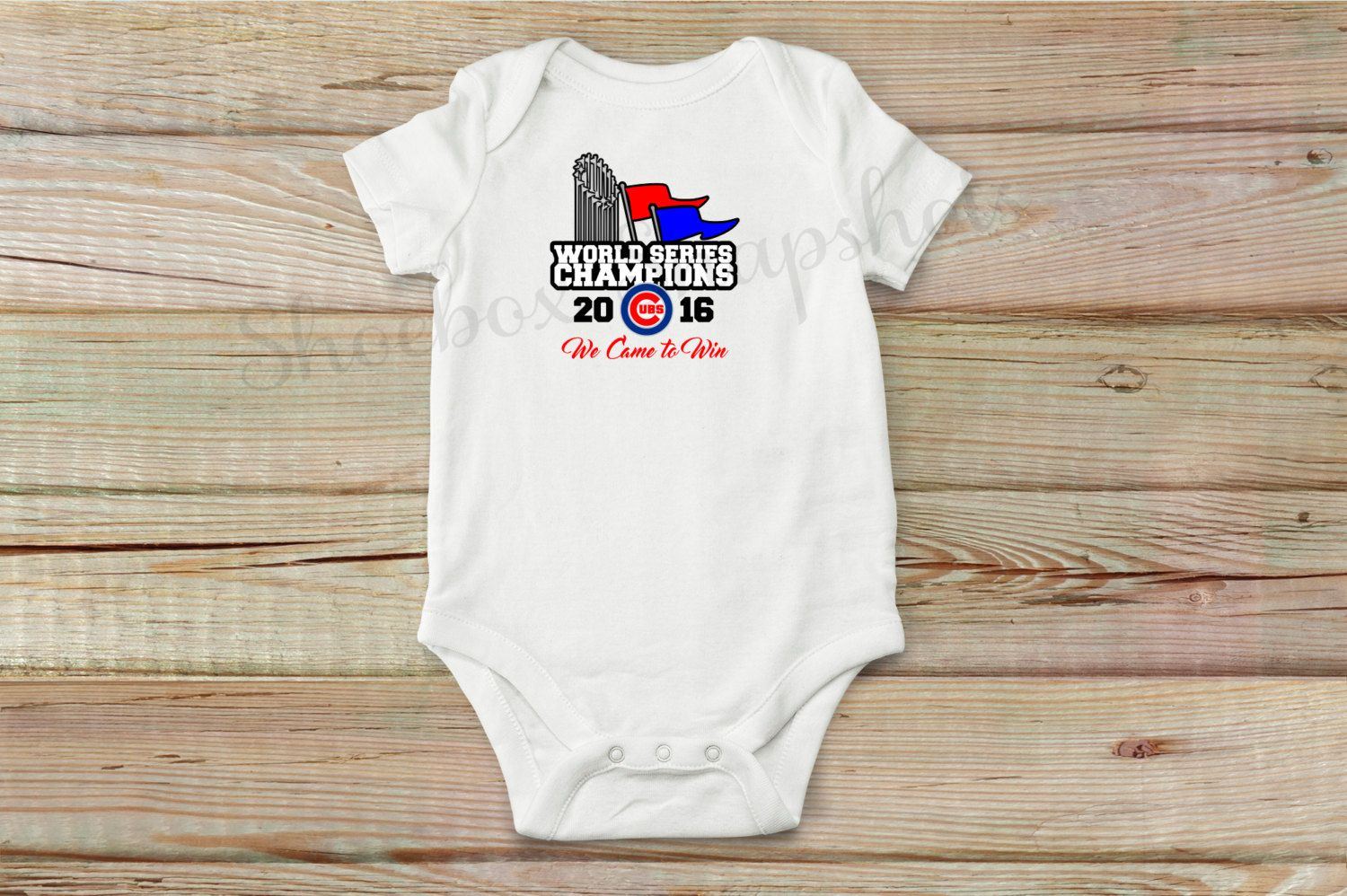 ff86b9690 ... Chicago Cubs World Series Champs Onesie, Cubs Baseball, Chicago Cubs, World  Series Championship ...