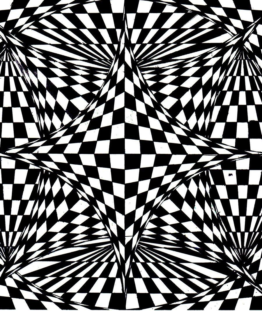 Op Art is the art of creating frozen works in 2 dimensions, perceived by the human eye as ... - #creating #dimensions #frozen #human #perceived #works - #OpArt