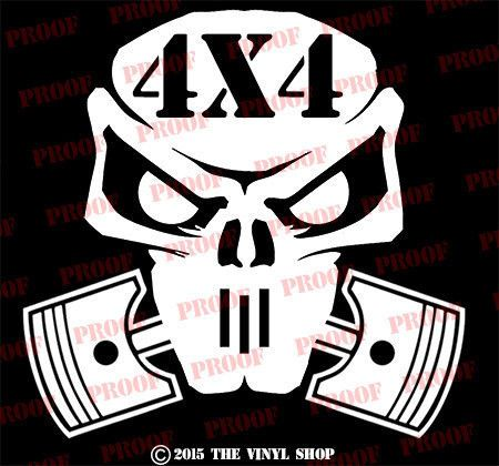 Fits 4x4 skull cool vinyl decal sticker skull jdm hella flush illest funny