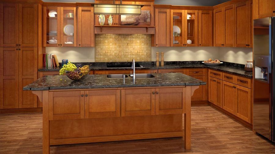 Maple Shaker Kitchen Cabinets honey shaker kitchen cabinets los angeles sale remodeling