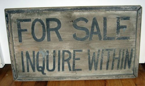 Genuine Antique Vintage Wooden Wood Sign For Sale Inquire Within Old Paint Ebay Wood Signs Antique Signs Wooden Signs