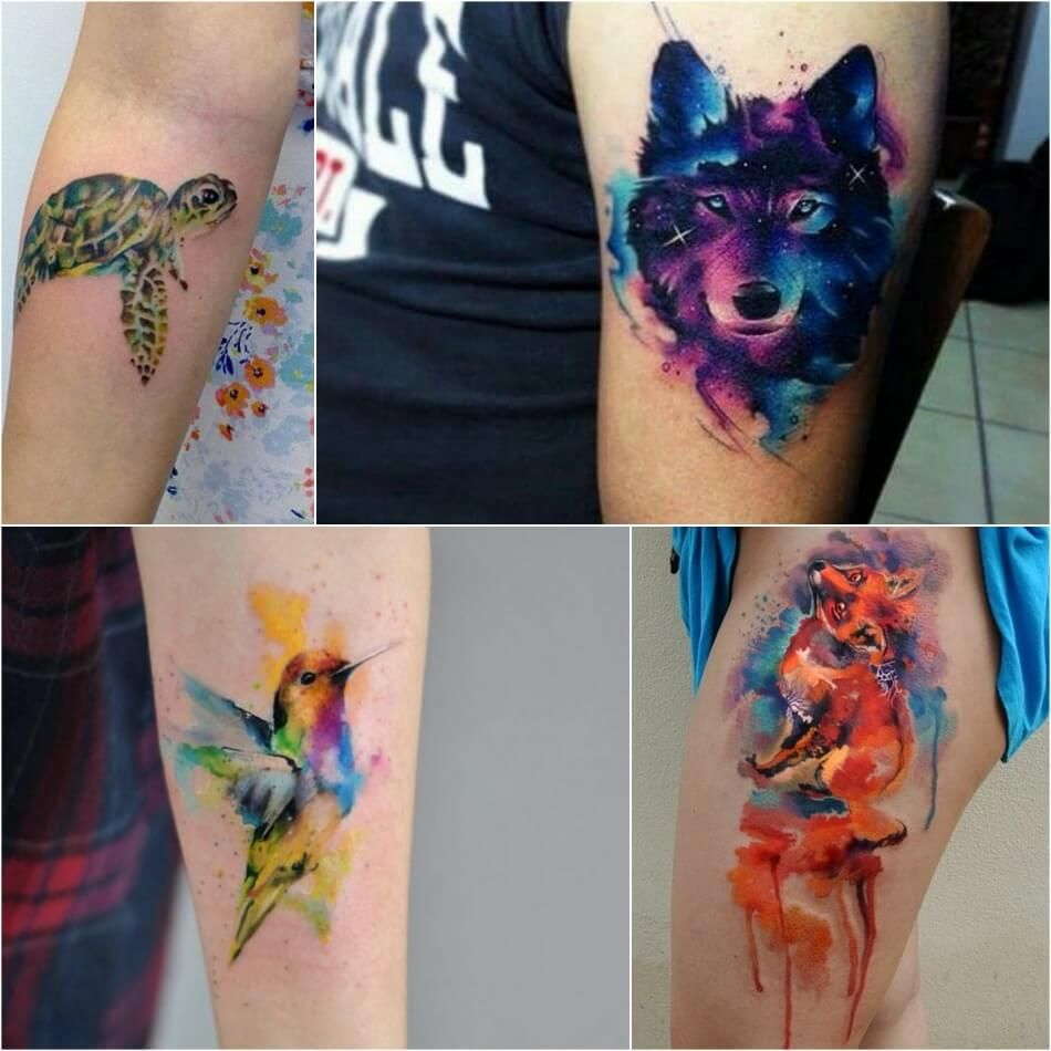Watercolor Tattoo Designs Watercolor Tattoo Technique And