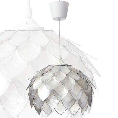 Precio De Lámpara Colgante De Nácar En Color Crema Y Plata Barato Comprar Lámparas De Techo Colgantes En Decoral Lámparas De Techo Lámparas Tienda De Lamparas