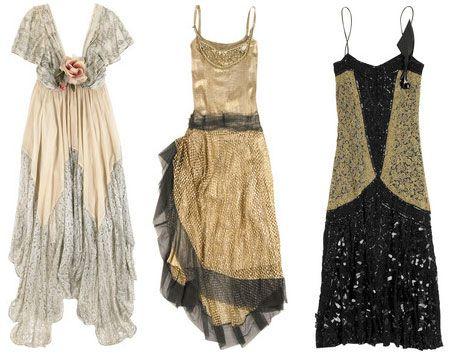 Vintage. Hem of center dress ~!~