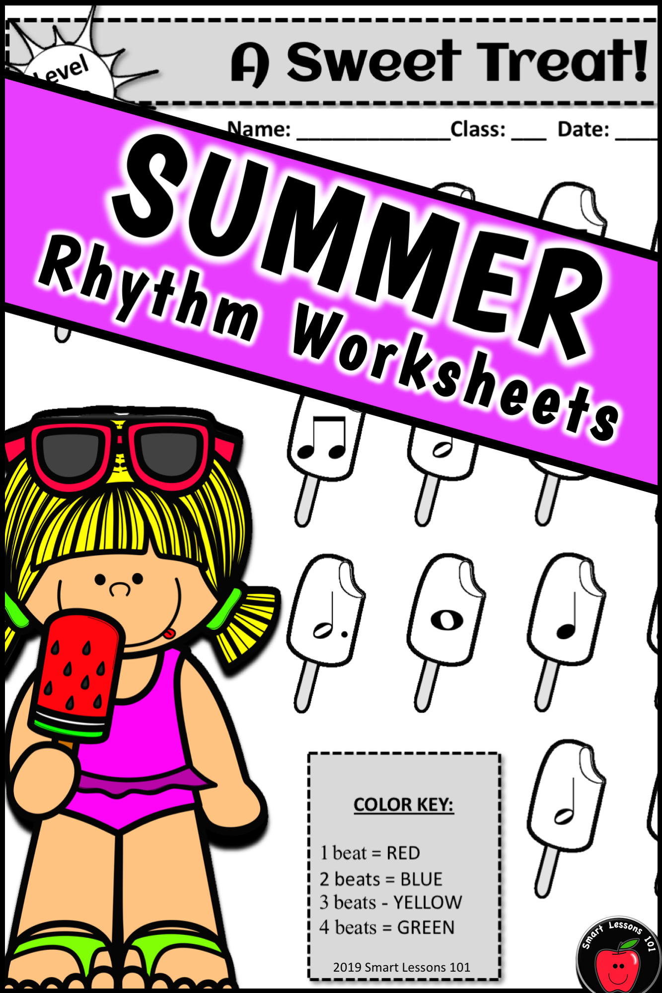 Summer Music Worksheets Summer Rhythm Activities End Of