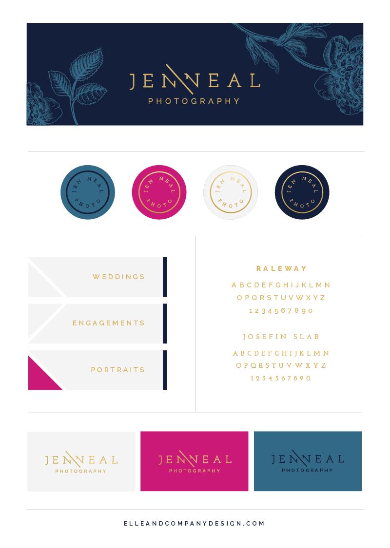 Brand + Website Design for Jen Neal Photography - Elle & Company