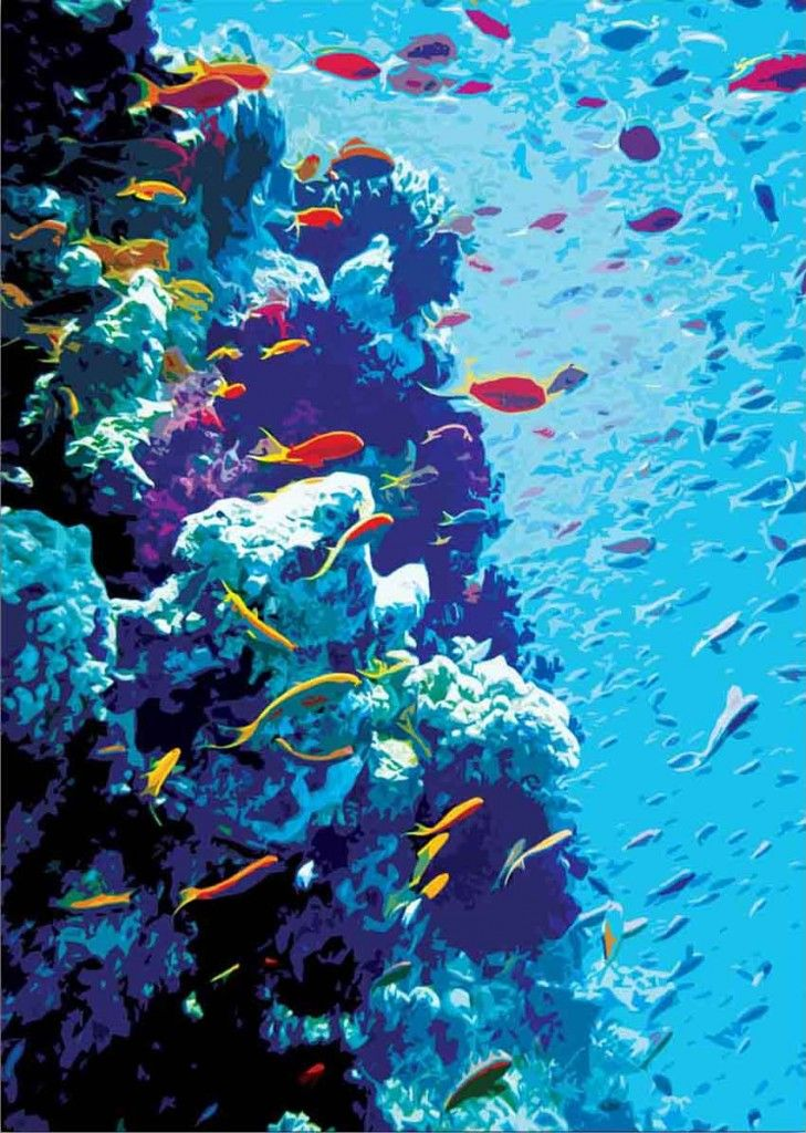 coral reef paintings - Google Search | Art | Great barrier ...