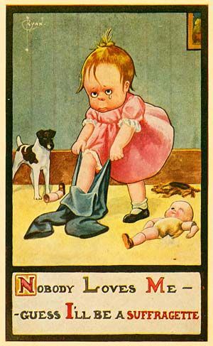 Anti Feminist Horseshit Never Changes Suffragette Anti Suffrage Vintage Posters