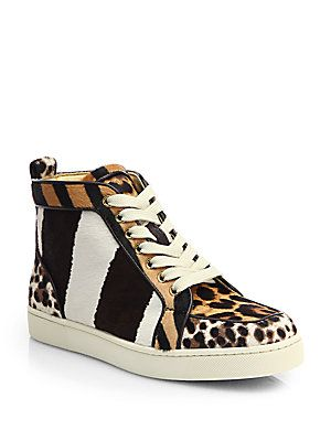 76f08d76e67 Christian Louboutin Rantus Orlato Mixed Animal-Print Calf Hair ...