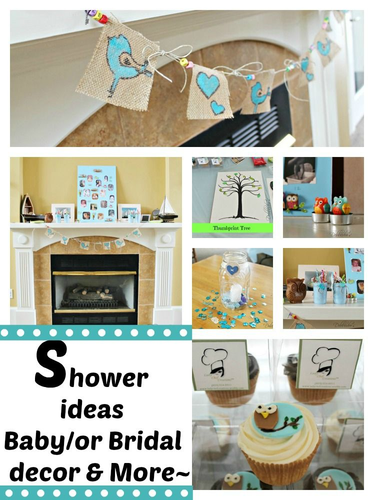 Baby or Bridal shower party decor and game  ideas