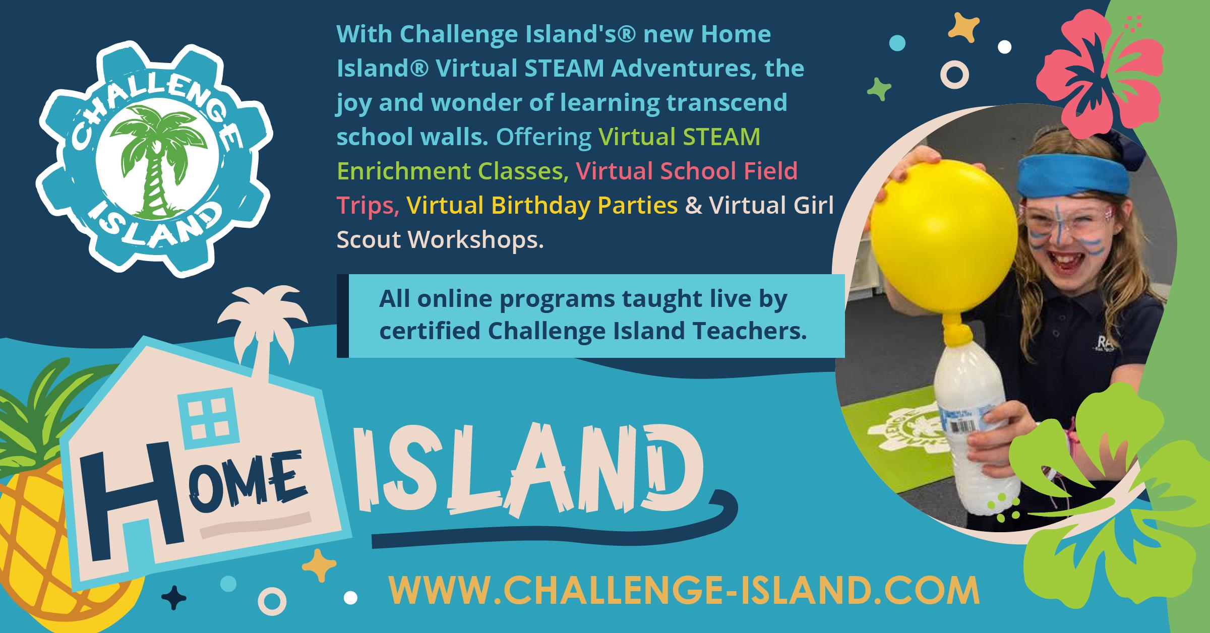 With Challenge Island's Home Island Virtual STEAM