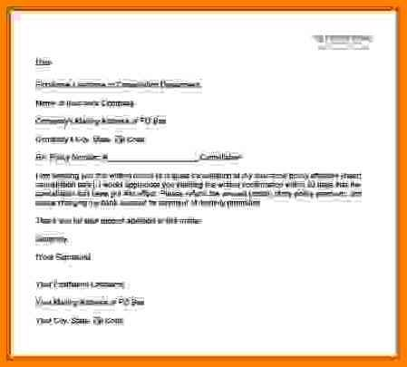 Application For Cancellation Insurance Policy Write Letter How