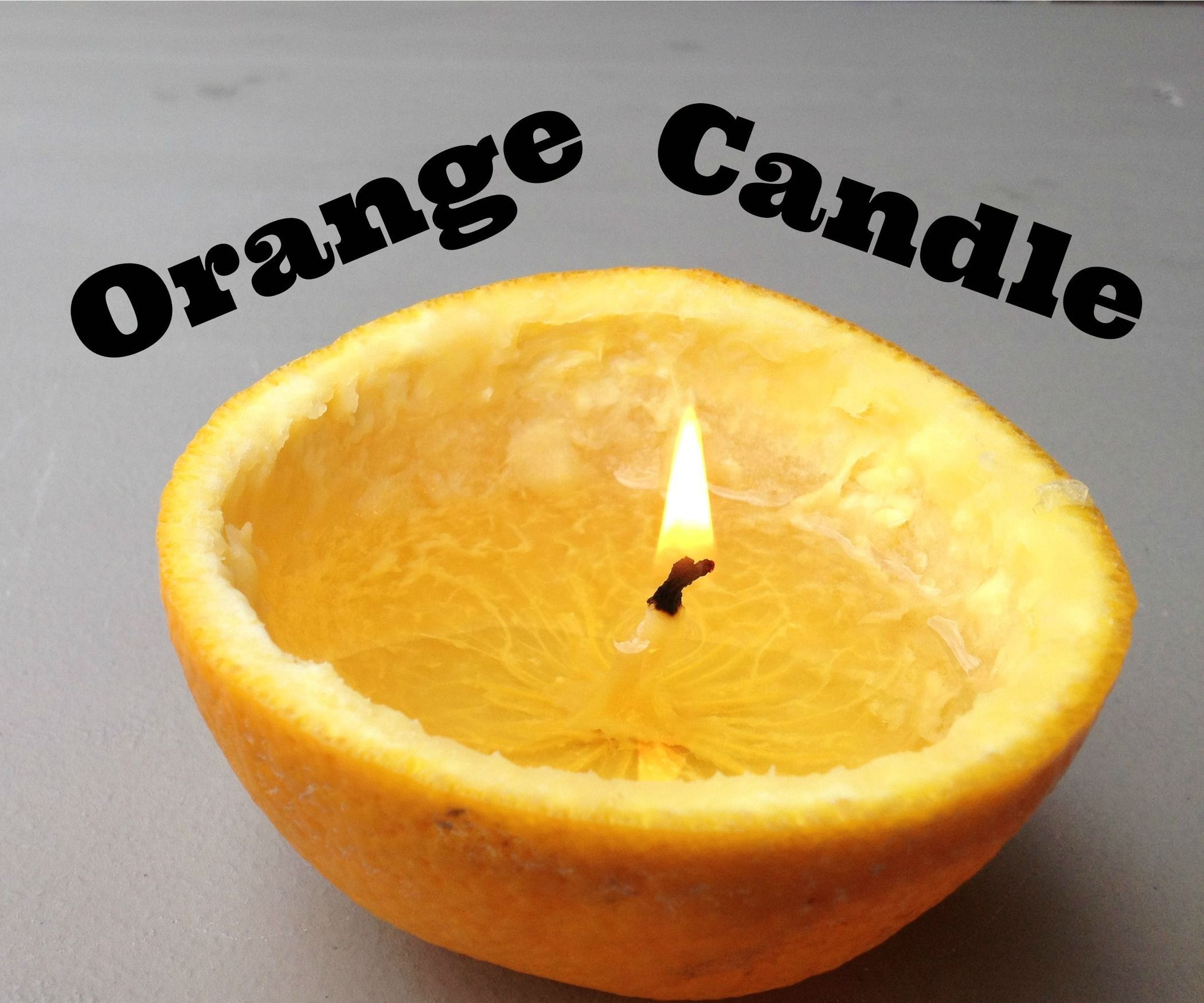 Turn an Orange Into a Candle! Orange candle, Candles, Orange