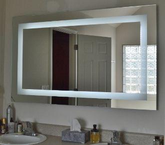 Front Lighted Led Bathroom Vanity Mirror 60 Lighted Vanity Mirror Bathroom Mirror Bathroom Vanity Mirror