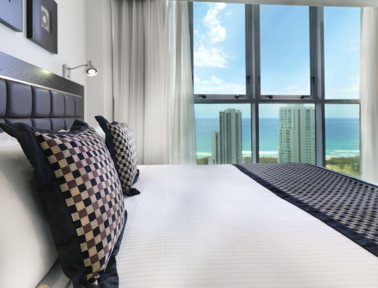 Bedroom Ocean View Apartment GoldCoast Australia Hotels Luxury