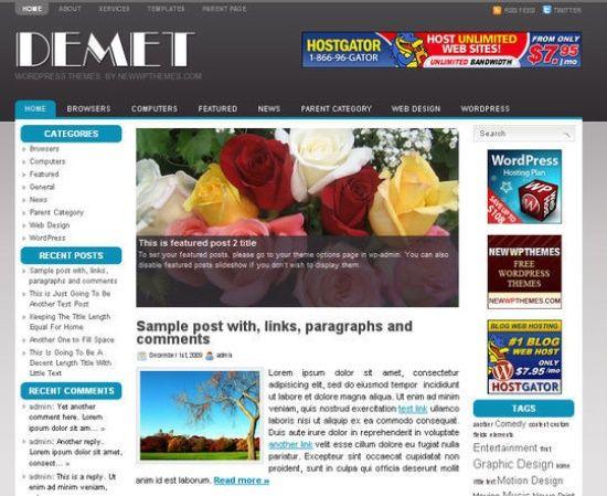45 Best Free 3 Column WordPress Themes | Wordpress | Pinterest ...