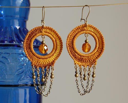 un jardín de hilo: Earrings