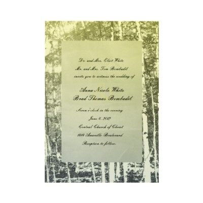 Antique blue yellow trees wedding invitation vintage style antique blue yellow trees wedding invitation vintage style invitation featuring faded background of trees fading from stopboris Image collections
