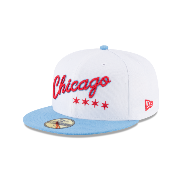 8543160da01 CHICAGO BULLS CITY SERIES 59FIFTY FITTED 3 quarter left view