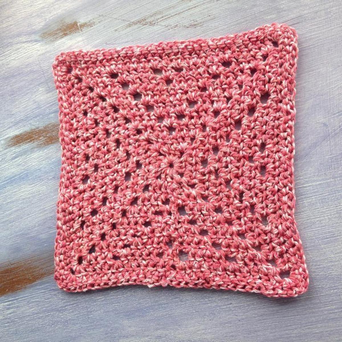 Granny-X Dishcloth | Craftsy | Crochet | Pinterest