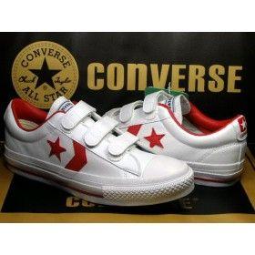 02e16b60ba17 Converse Pro Star Player OX 3-strap White-Red
