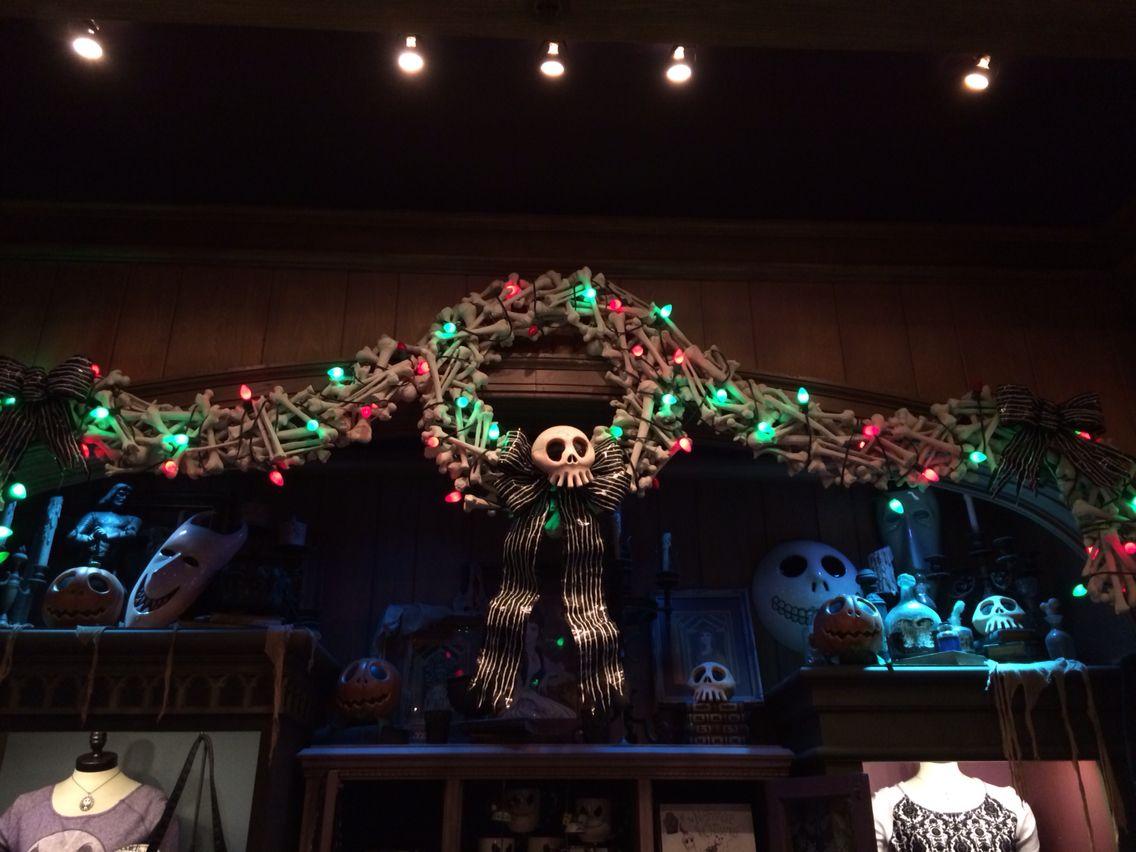Disneyland Haunted Mansion store display nightmare before Christmas ...