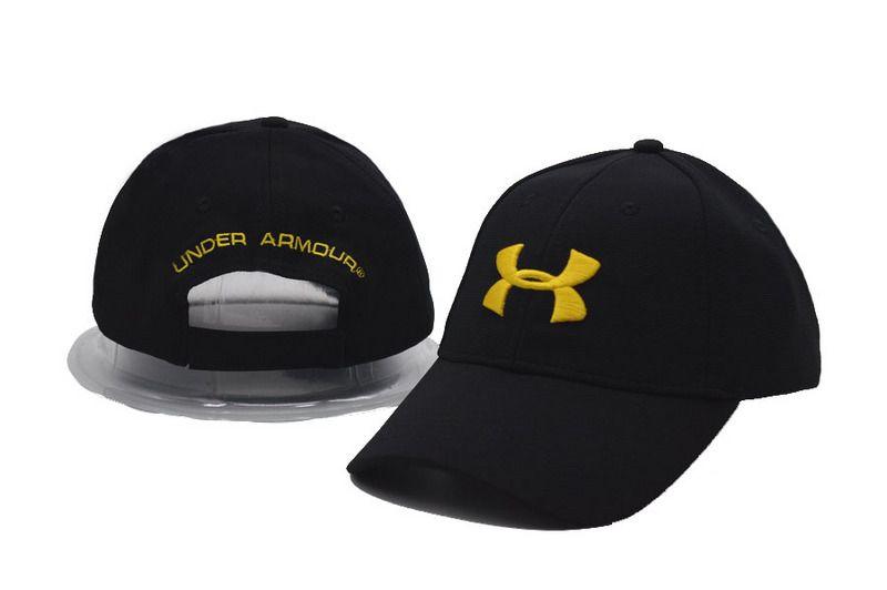 Men s   Women s Under Armour HeatGear Basic UA Logo Embroidery Adjustable  Baseball Hat - Black   Gold 63aa2a0a40