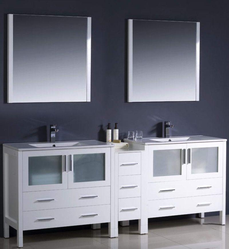 Fresca Fvn62 361236 Uns In 2020 Bathroom Sink Vanity Vanity Set With Mirror Double Sink Bathroom