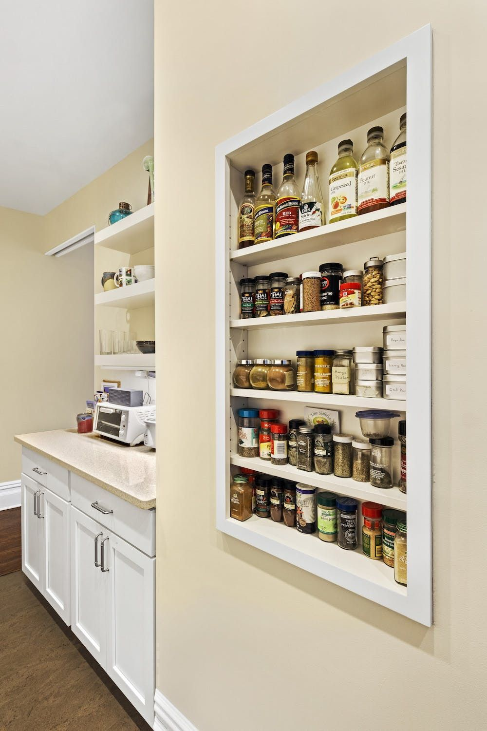 Before After Doubling The Storage Space In A Nyc Kitchen Kitchen Storage Organization Diy Kitchen Spice Storage Kitchen Storage
