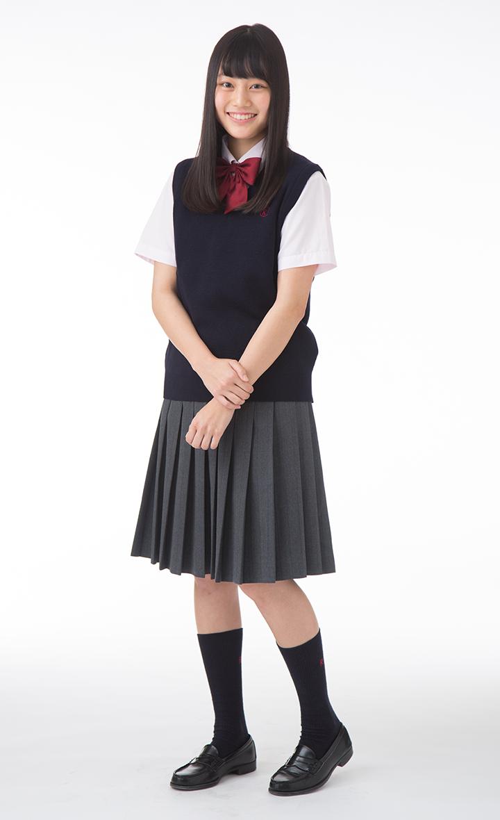 立命館守山高等学校   Uniform Map 制服地圖   Girls loafers, Pleated ...
