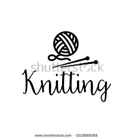 knitting, icon, yarn, ball, wool, logo, knit, vector