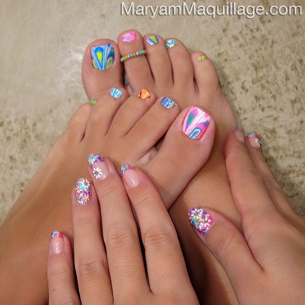 Kiss nail dress nail art flower power tie dye for Acrylic nails walmart salon